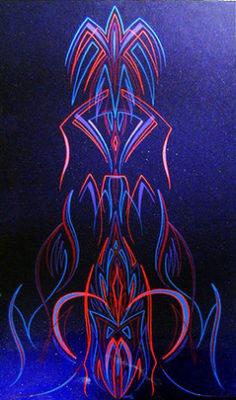 #59 Charles Ling III - Wenatchee, Washington March 1998 Created on a blue metal flake panel.