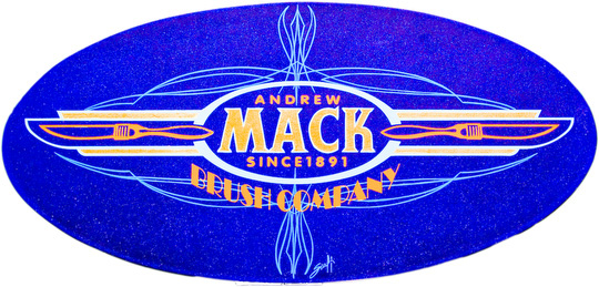 #96 Scal Remsik. Oval panel with blue metal flake candy with Mack Logo. Ft. Wayne In.