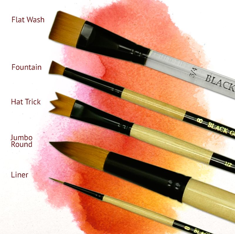 Micron Mini Art Brush one brush Flat Shader #15//0