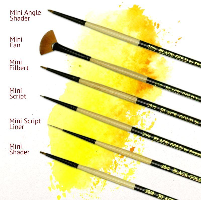 Size 2 Black Gold Series 206SL Script Liner
